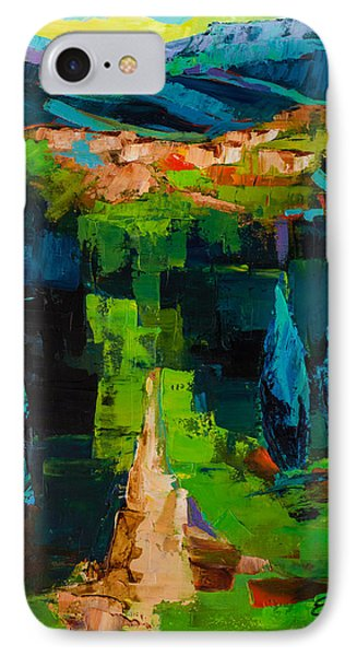 Toward The Tuscan Village IPhone Case by Elise Palmigiani