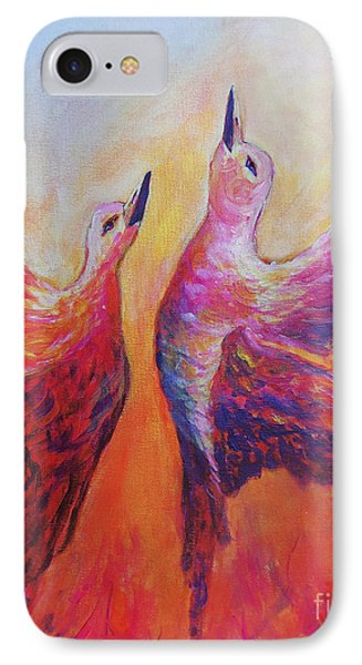 IPhone Case featuring the painting Towards Heaven by Sher Nasser