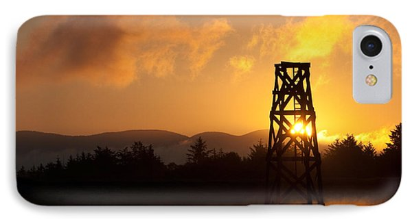 IPhone Case featuring the photograph Tower At Dawn by Erin Kohlenberg