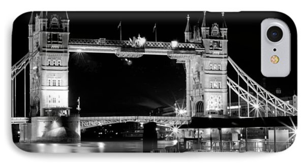 IPhone Case featuring the photograph Tower Bridge At Night by Maj Seda
