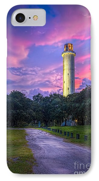 Tower In Sulfur Springs IPhone Case by Marvin Spates