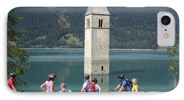 Tower In The Lake IPhone Case by Travel Pics