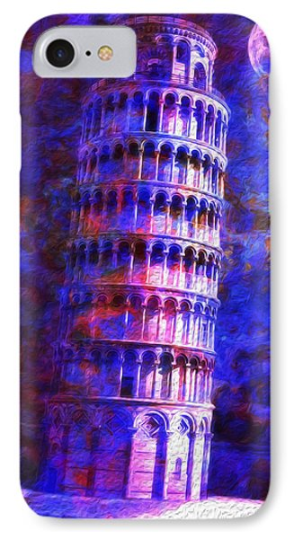 Tower Of Pisa By Moonlight Phone Case by Jack Zulli