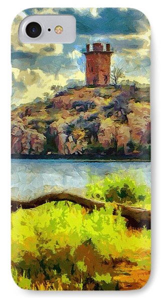 Tower On The Bluff Phone Case by Jeffrey Kolker