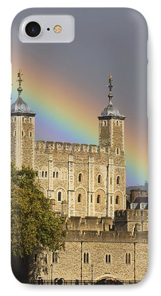 Tower Rainbow IPhone Case by Shirley Mitchell