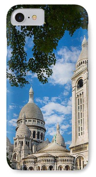 Towering Sacre-coeur Phone Case by Inge Johnsson