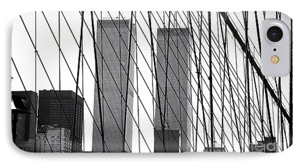 Towers From The Brooklyn Bridge 1990s IPhone Case