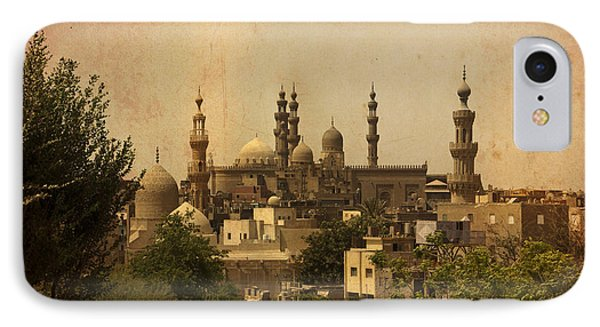 IPhone Case featuring the photograph Towers Of Muslims Mosque In Cairo by Mohamed Elkhamisy