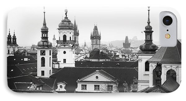 Towers Of Prague Phone Case by John Rizzuto