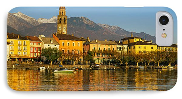 Town At The Waterfront, Ascona, Ticino IPhone Case by Panoramic Images