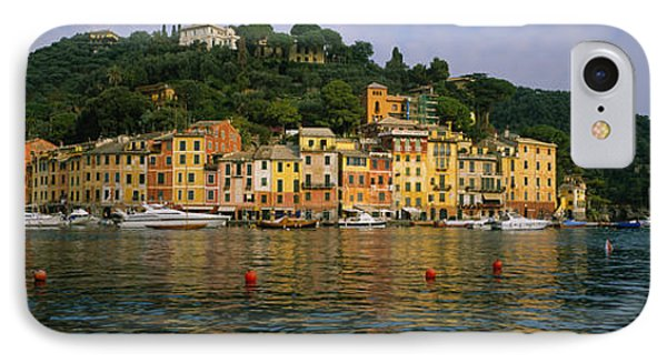 Town At The Waterfront, Portofino, Italy IPhone Case by Panoramic Images
