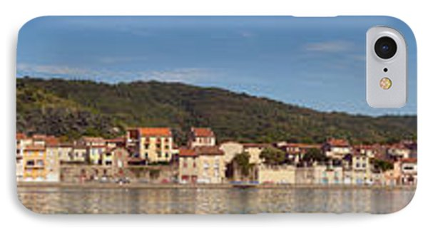 Town At The Waterfront, Rhone River IPhone Case by Panoramic Images