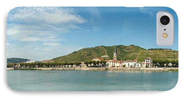 Town At The Waterfront, Vineyards IPhone Case by Panoramic Images
