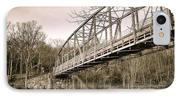 Town Bridge Collinsville Connecticut IPhone Case by Brian Caldwell