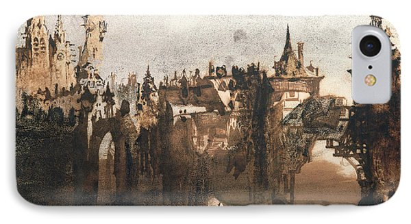 Town With A Broken Bridge IPhone Case by Victor Hugo