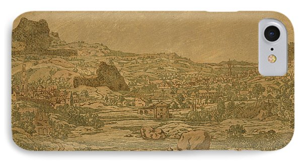 Town With Four Towers IPhone Case by Hercules Segers