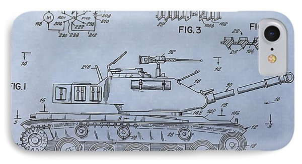 Toy Army Tank Patent IPhone Case by Dan Sproul