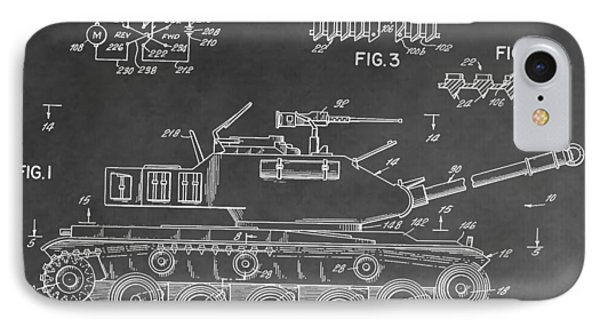 Toy Military Tank Patent IPhone Case by Dan Sproul