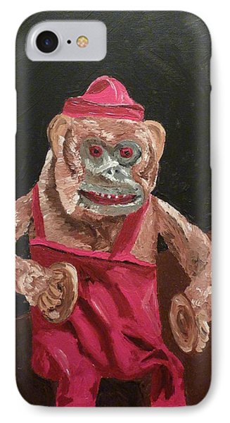 Toy Monkey With Cymbals IPhone Case by Joshua Redman