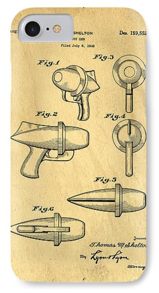 Toy Ray Gun Patent IPhone Case by Edward Fielding