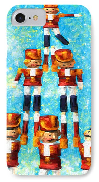 Toy Soldiers Make A Tree IPhone Case by Bob Orsillo