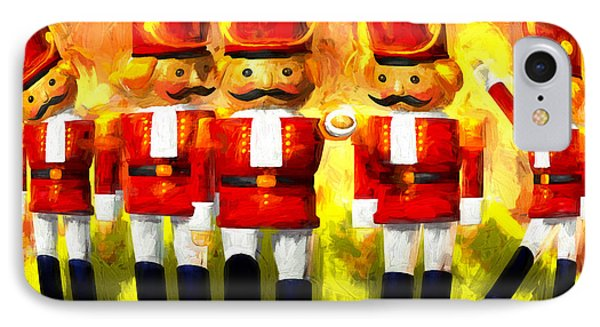 Toy Soldiers Nutcracker IPhone Case by Bob Orsillo