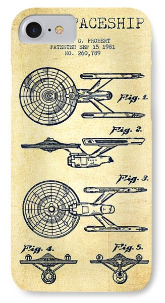 Toy Spaceship Patent From 1981 - Vintage IPhone Case by Aged Pixel