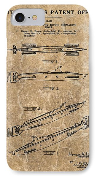 Toy Submarine Patent IPhone Case by Dan Sproul