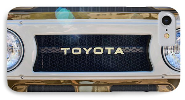 Toyota Land Cruiser Grille Emblem  IPhone Case by Jill Reger