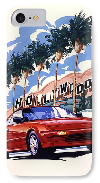 Toyota Mr2 Hollywood Hills IPhone Case by Garth Glazier