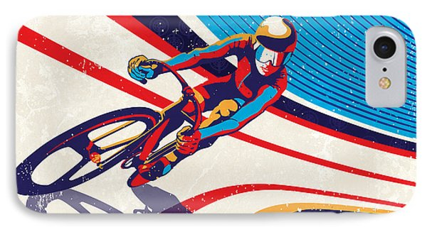 Track Cyclist IPhone Case by Sassan Filsoof