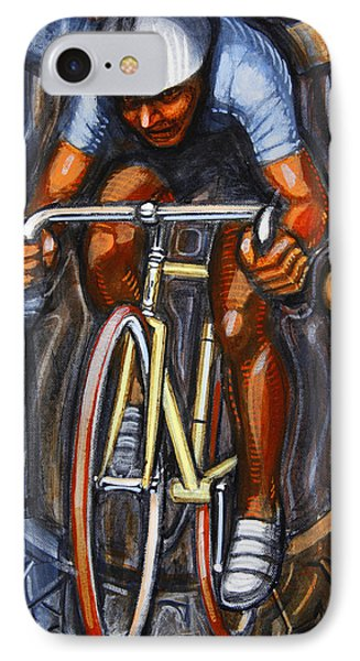 IPhone Case featuring the painting Track Racer  by Mark Howard Jones