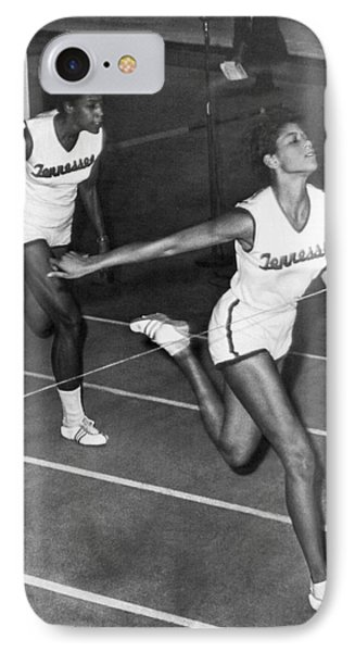 Track Star Wilma Rudolph IPhone Case by Underwood Archives