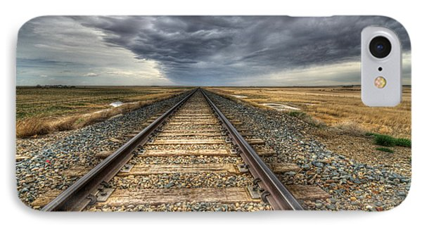 Tracks Across The Land Phone Case by Bob Christopher
