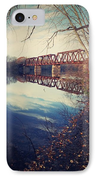 IPhone Case featuring the photograph Tracks And Reflections by Jeremy McKay