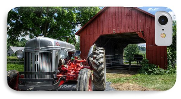 Tractor And Barn IPhone Case