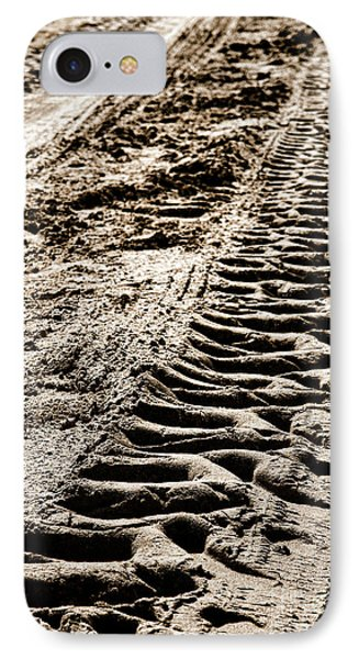 Tractor Tracks In Dry Mud Phone Case by Olivier Le Queinec