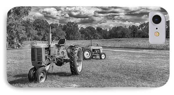 IPhone Case featuring the photograph Tractors by Howard Salmon