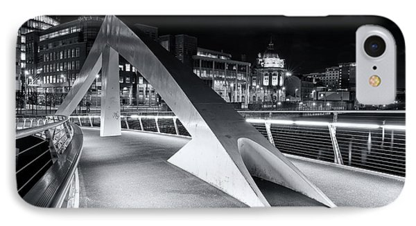 IPhone Case featuring the photograph Tradeston Footbridge by Stephen Taylor