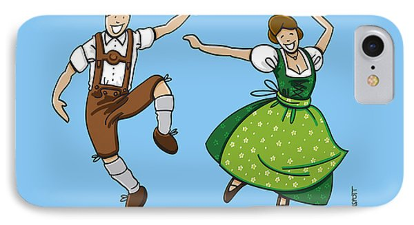 Traditional Bavarian Couple Dancing Phone Case by Frank Ramspott