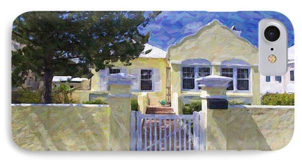 IPhone Case featuring the photograph Traditional Bermuda Home by Verena Matthew