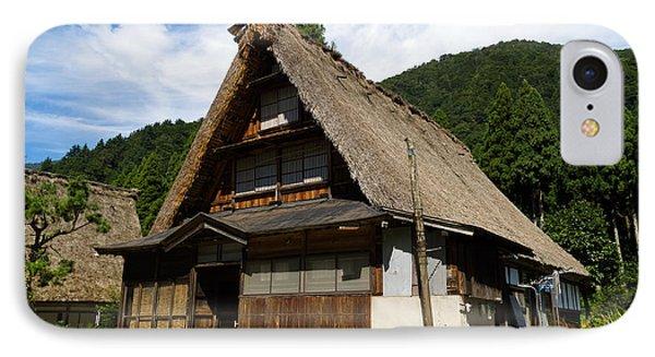 Traditional Gassho-zukuri Style House In Suganuma Village - Gokayama - Japan Phone Case by Chieko Shimado