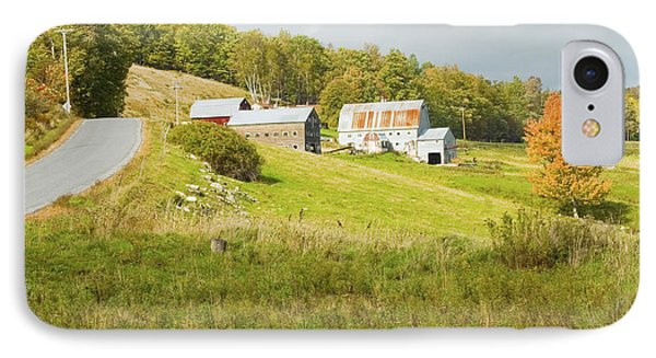 Traditional Maine Farm On Side Of Hill Canvas Poster Prints IPhone Case
