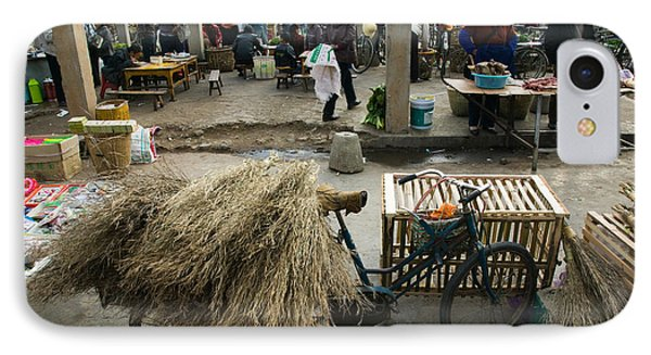 Traditional Town Market With Grass IPhone Case by Panoramic Images