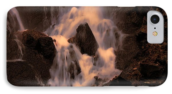 Traditional Waterfall At Sunset Phone Case by Lawrence Christopher