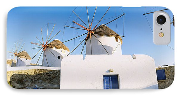 Traditional Windmill In A Village IPhone Case