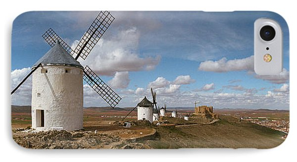 Traditional Windmill On A Hill IPhone Case by Panoramic Images