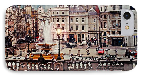 Trafalgar Square London Phone Case by Diana Angstadt