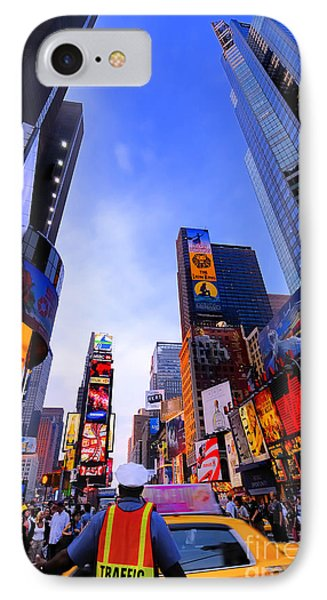 Traffic Cop In Times Square New York City Phone Case by Amy Cicconi