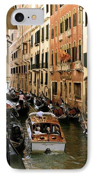 Traffic In Venice IPhone Case by Gerald Hiam
